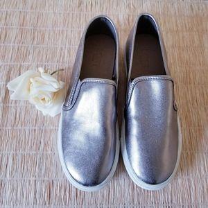 LOFT Silver Slip On Sneakers